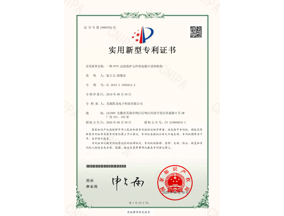 2019216504124 electronic certificate
